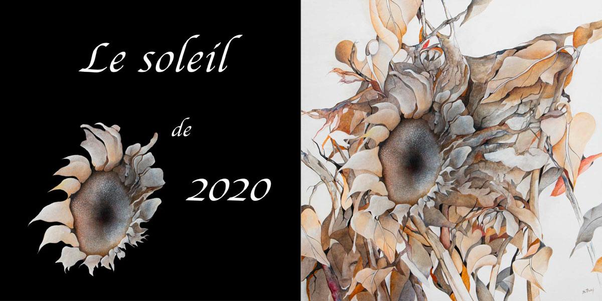Le soleil de 2020 (carte de voeux de Sabine Van op den Bosch