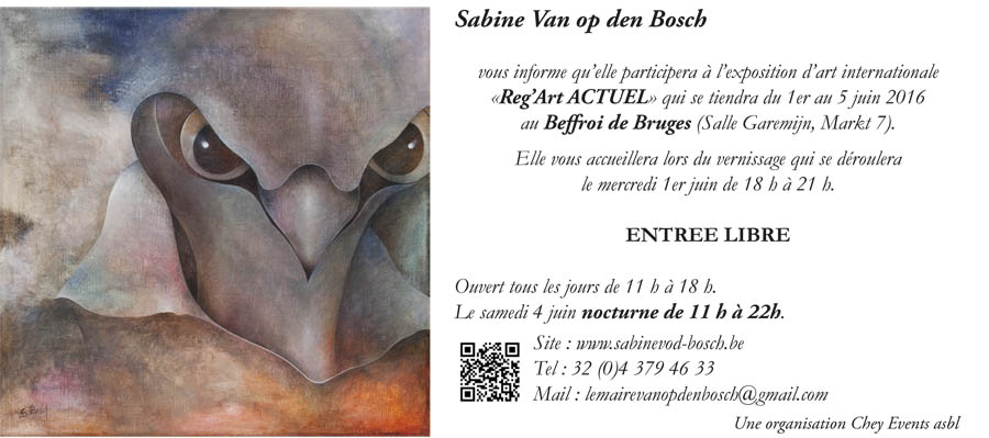 Invitation exposition Reg'Art Bruges