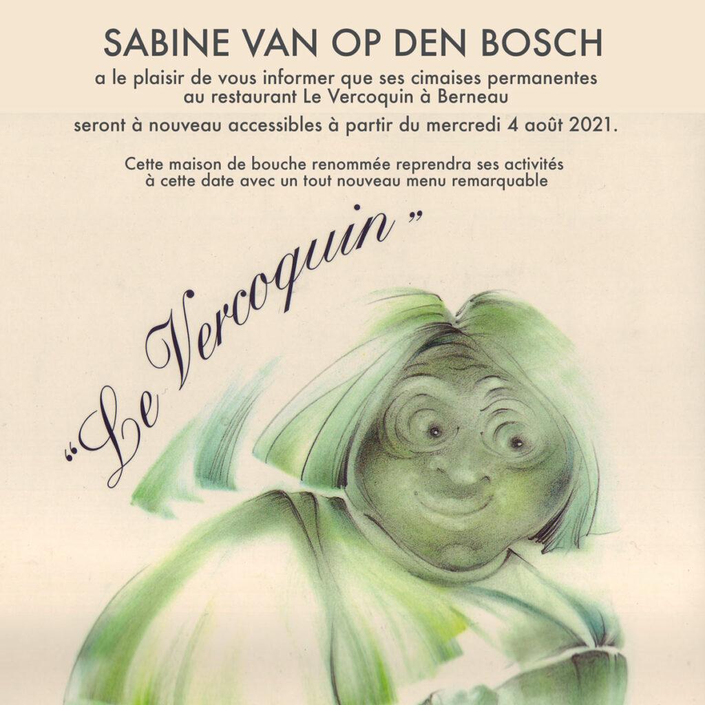 Réouverture du Vercoquin - cimaises permanentes de Sabine Van op den Bosch