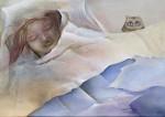 NE PAS DERANGER - Acrylique sur toile - 50 X 70 cm